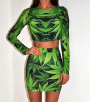 Designerski zestaw green print by Xstrit Fashion