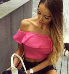 # Top hiszpanka roz pink by xstrit fashion